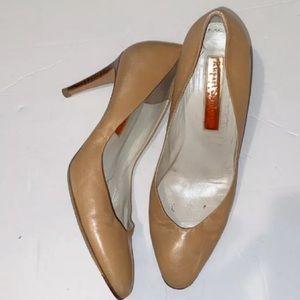 Tan Nude Pump High Heels sz 39